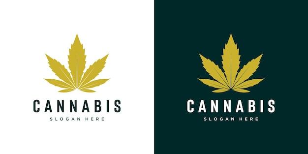 Vecteur de logo de feuille de marijuana cannabis