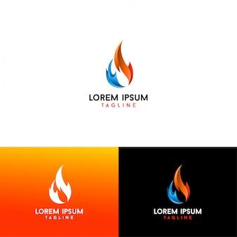 Vecteur de logo flamme 3d