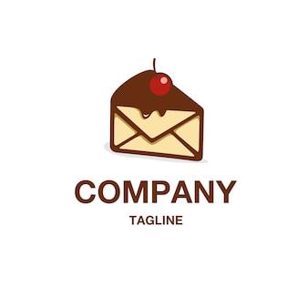 Vecteur de logo de gâteau de message