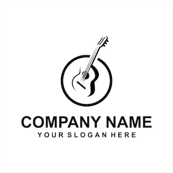 Vecteur de logo de guitare