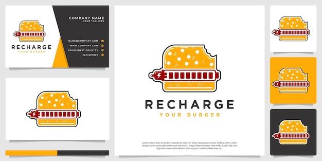 Vecteur de logo de hamburger avec un style pop