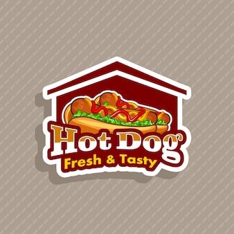 Vecteur de logo hot-dog