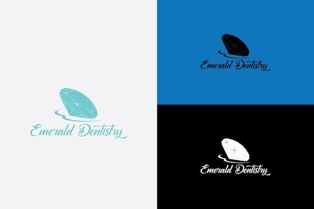 Vecteur de logo d'icône de diamant abstrait avec la lettre e adapté aux soins dentaires et à l'hôpital