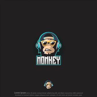 Vecteur de logo de jeu de singe