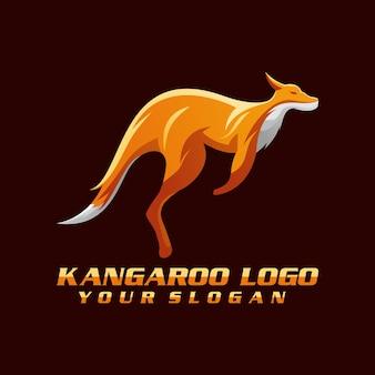 Vecteur de logo kangourou, modèle, illustration