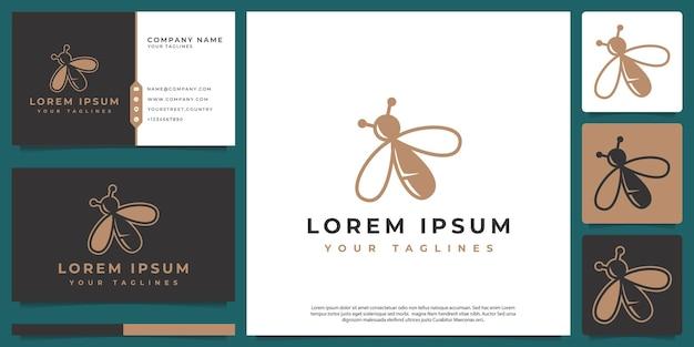 Vecteur de logo de luciole avec un style d'art de ligne moderne
