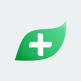 Vecteur de logo médical feuille