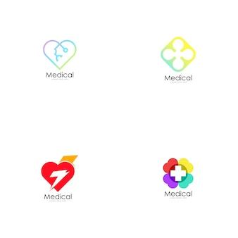 Vecteur de logo médical.