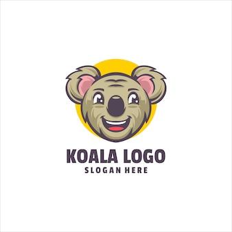 Vecteur de logo mignon koala