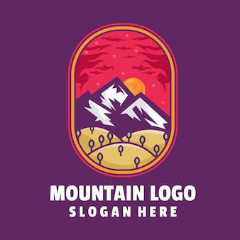 Vecteur de logo de montagne