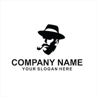 Vecteur de logo noir geek mavia