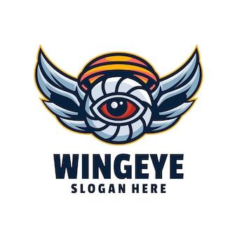 Vecteur de logo d'oeil d'aile