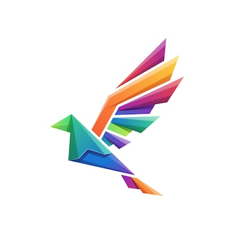 Vecteur logo oiseau