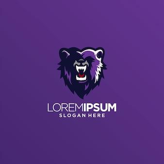 Vecteur de logo ours lion tigre