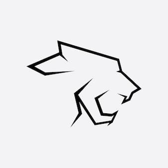 Vecteur de logo panthère sur fond blanc