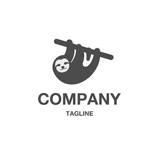 Vecteur de logo paresseux