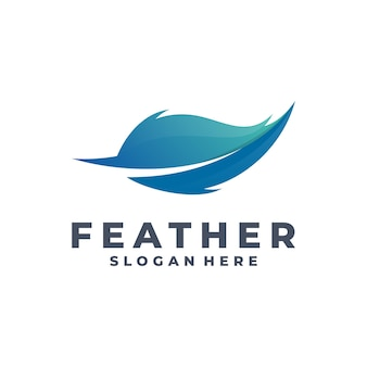 Vecteur de logo plume moderne