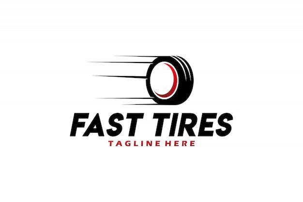 Vecteur de logo de pneus rapides isolé