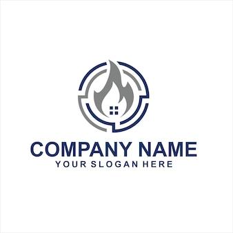 Vecteur de logo de projet de maison