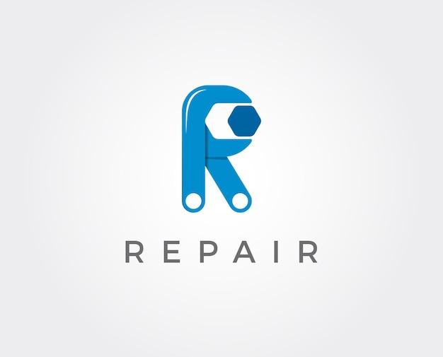 Vecteur de logo de réparation automatique. modèle de logo automobile et transport