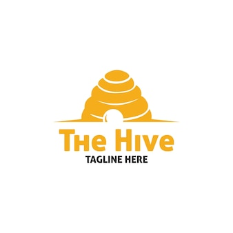 Vecteur de logo de ruche