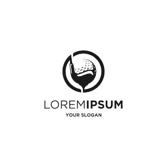 Vecteur de logo de silhouette de golf simple