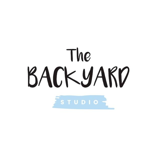 Le vecteur de logo de studio d'arrière-cour