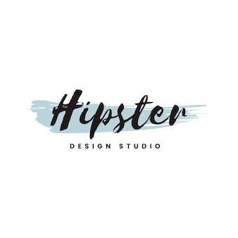 Vecteur de logo de studio de design hipster