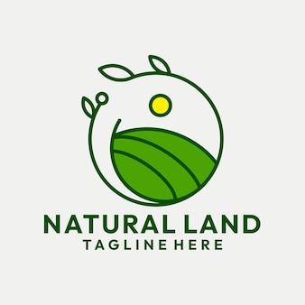 Vecteur de logo de terre naturelle hipster
