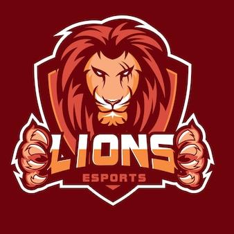 Vecteur de logo tête de lion