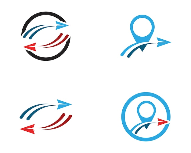 Vecteur de logo de voyage rapide