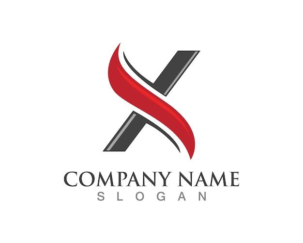 Vecteur de logos lettre x