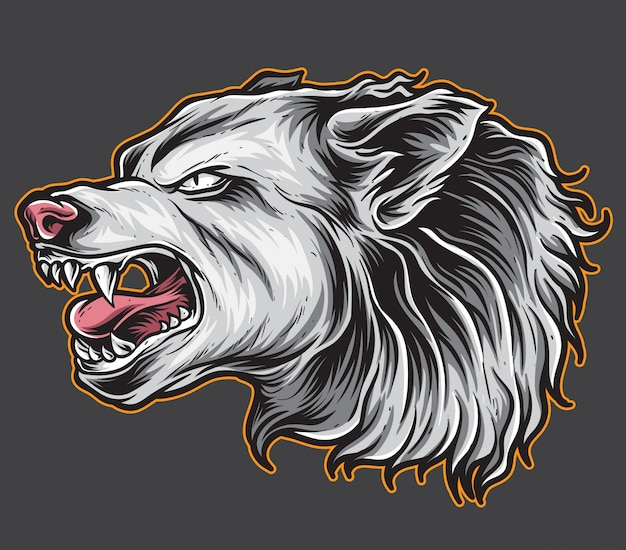 Vecteur de loup bête