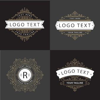 Vecteur de luxe logo ornement