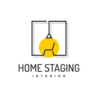 Vecteur de maison de meubles de design d'intérieur logo