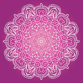 Vecteur de mandala de méditation fractale ethnique
