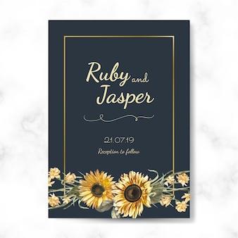 Vecteur de maquette carte invitation de mariage
