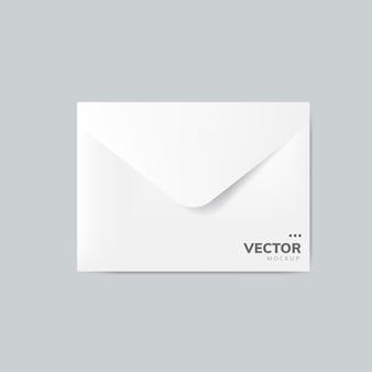 Vecteur de maquette de conception enveloppe papier