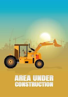 Vecteur de matériel de construction