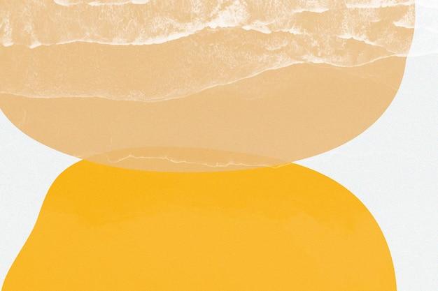 Vecteur de memphis simple ton orange