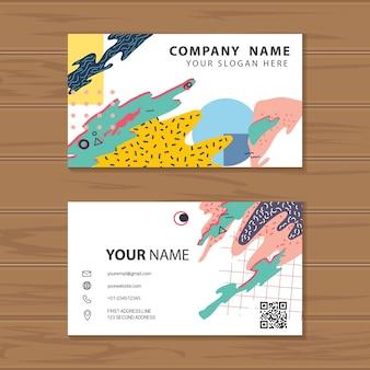Vecteur de memphis style entreprise carte de visite