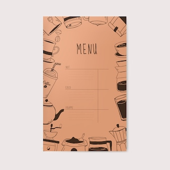 Vecteur de menu café et café