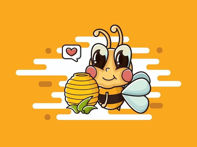 Vecteur de miel abeille