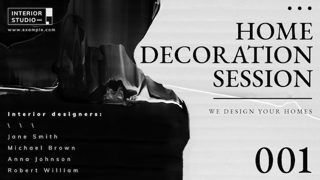 Vecteur de modèle abstrait, annonce de design d'intérieur pour la bannière de blog