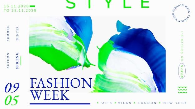 Vecteur de modèle abstrait, annonce de la semaine de la mode pour la bannière de blog