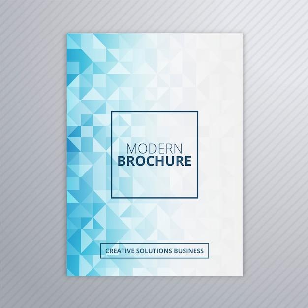 Vecteur de modèle abstraite brochure polygone bleu