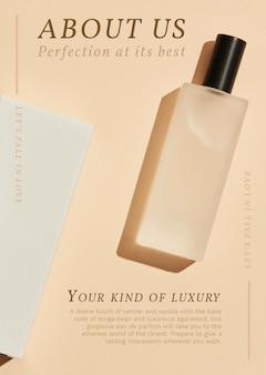 Vecteur de modèle d'affiche de parfum