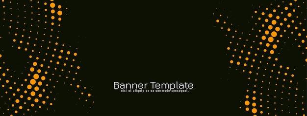 Vecteur de modèle de bannière de conception abstraite demi-teinte jaune
