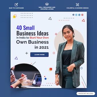 Vecteur de modèle de bannière web business instagram post vecteur premium