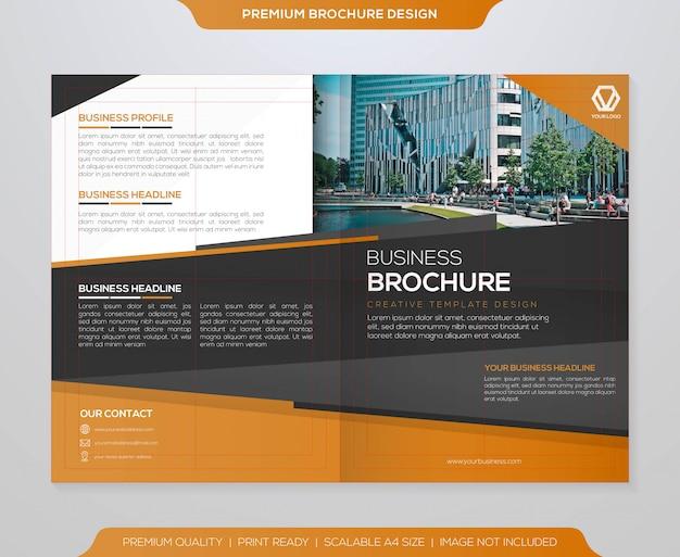 Vecteur de modèle de brochure d'entreprise
